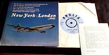 NEW YORK - LONDON by BOAC Rolls-Royce 707 Airplane Pilot Spoken Word UK PS EP