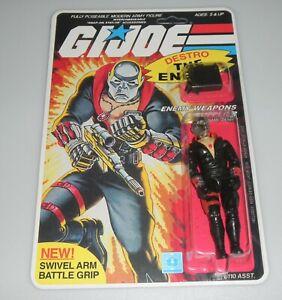 *RECARDED* 1983 GI Joe Cobra Destro Figure Complete Sealed CUSTOM File Card Back