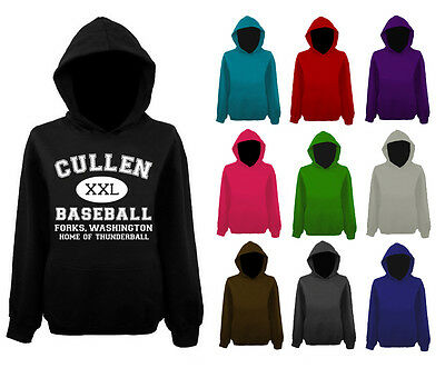 Womens Cullen Baseball Edward Twilight Pullover Hoodie NEW UK 12-22