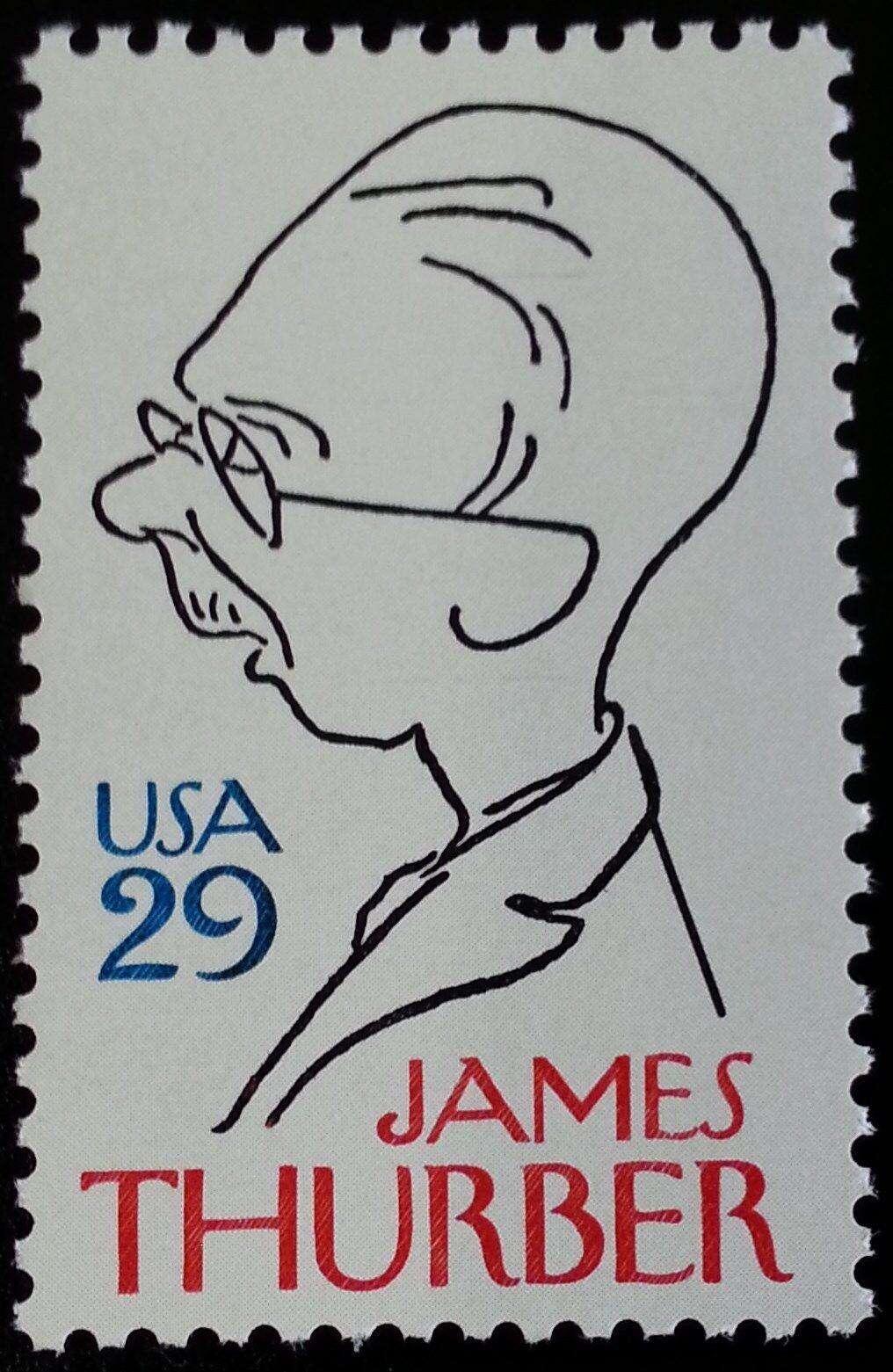 1994 29c James Thurber, Cartoonist Scott 2862 Mint F/VF