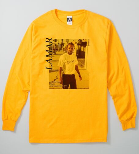 Lamar Magazine Long Sleeve Hip Hop Music Vintage Style Picture Of Kendrick Tee
