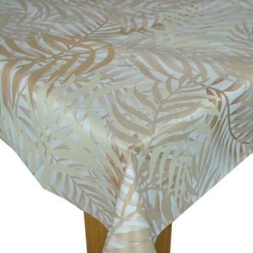 JUNGLE BEIGE  VINYL WIPE CLEAN PVC TABLECLOTH