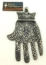 SILVER Moroccan Hamsa Berber Jewish Replica Ethnic Tribal Star of David PENDANT