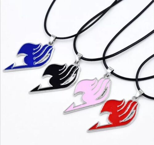 """Fairy Tail Anime Natsu Dragneel Guild Pendant Necklace Red 1.75"""" X 1"""" US Seller"""