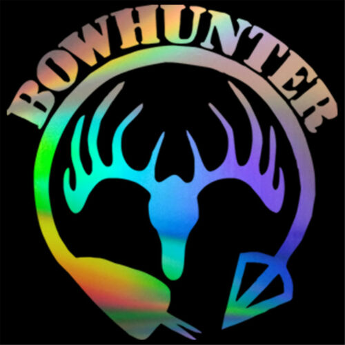 Bowhunter Funny Sticker Car Window Bumper Laptop Wall Vinyl Motorcycle Decal