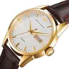 BRIGADA Swiss Brand Minimalist Classic Watch for Men Boys,Gold Automatic Quartz