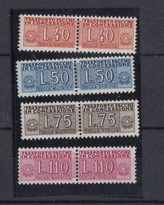 Italia-1955-58-Pacchi-in-concessione-filigrana-a-stelle-5-8-Mnh