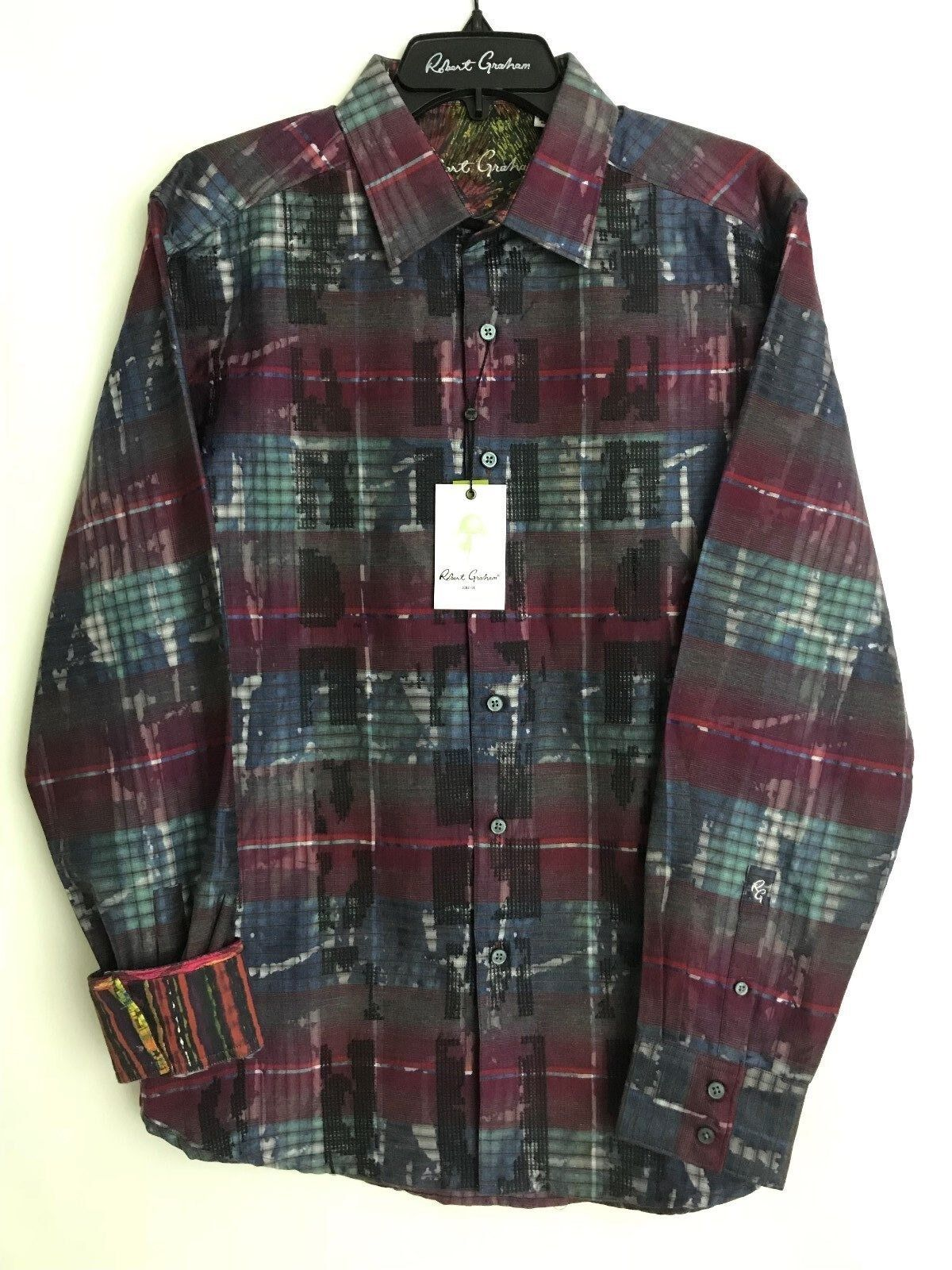 Robert Graham OUTWASH PLAINS Geo Abstract L  NEW NWT Classic Fit Large