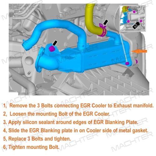 EGR Blanking Plate Set Valve Cooler Fit For Ford Ranger PX Mazda BT50 3.2L //2.2L