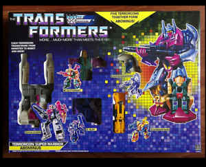 Transformers Transformers Transformers G1 Re-issue Decepticon Terrorcons Combiners Abominus Collection NEW b64167