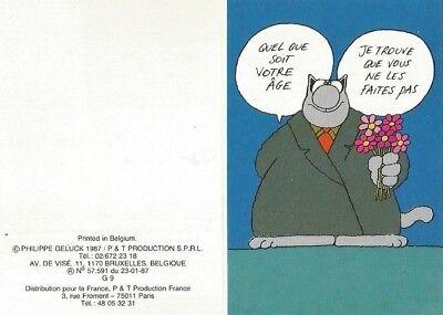 Geluck Le Chat Carte Postale Anniversaire Age 8 5x11 5 Cm Ebay