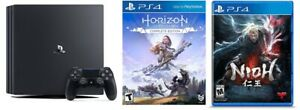 PlayStation 4 Pro 1TB Console & Horizon Zero Dawn Complete Edition & Nioh - Sony