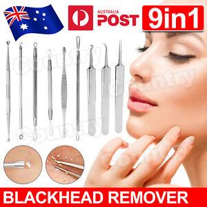 9pcs-Set-Blackhead-Extractor-Tool-Remover-Pimple-Blemish-Comedone-Kit-Acne-Clip