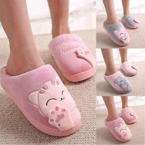 Cute Cat Plush Slipper Autumn Indoor Anti-Slip Soft Winter Warms Shoes HomeHouse