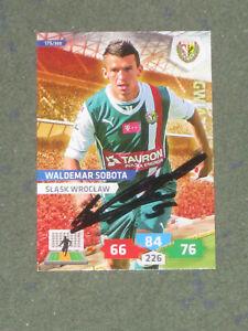 POLEN Waldemar Sobota (Slask Wroclaw) FC St. Pauli FC Brügge Panini Sammelkarte