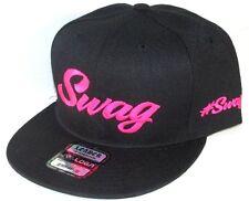 Custom Made  Black/Pink Drake SWAG #SWAG Hat Snapback Flat Bill Cap