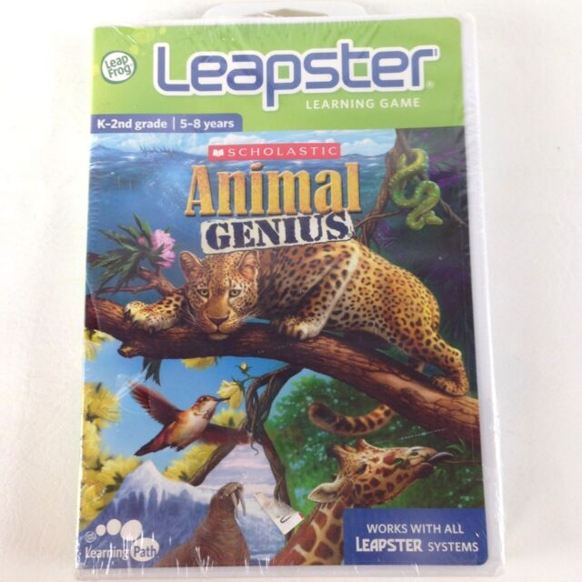 leapster learning game scholastic animal genius k 2nd grade ebay