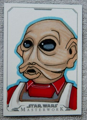 2015 Star Wars Masterwork Nien Nunb Sketch Card 11 By Artist Tod Allen Smith
