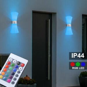 LED Außen Leuchten dimmbar Steh Lampen Wand Up Down Strahler RGB Fernbedienung