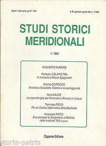 MERIDIONE-BASILICATA-PUGLIA-SPAGNOLETTI-TALARICO-RIONERO-STREGONERIA-MOLFETTA