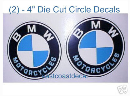 "BMW Motorcycle 4/"" Decals  R K 1200 LT RT GT R 650 CS CL"