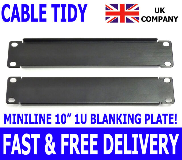 "10"" Cable Management Blanking Plate Miniline SOHO Rack Mount Network Data Lan"