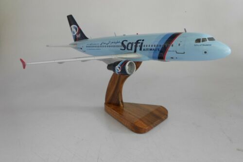 A320 Safi Airways Airbus A320 Airplane Mahogany Kiln Dry Wood Model Large New