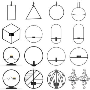 3D-Geometric-Wall-Mounted-Candle-Holder-Metal-Tea-Light-Home-Decor-Candlestick