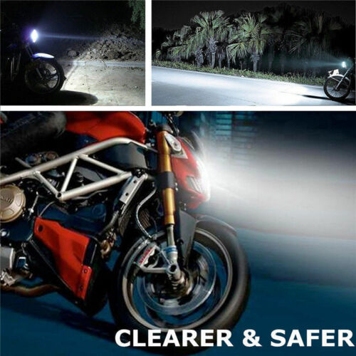2x H4//9003 6500K High Power COB LED Bulb White Hi//Low Beam Motorcycle Headlight