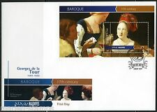 MALDIVES 2015 BAROQUE GEORGES de la TOUR  SOUVENIR SHEET FIRST DAY COVER