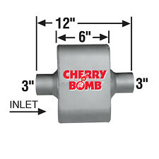 Ap Exhaust Muffler Cherry Bomb Extreme 3 Id X Od Oval 12 Oal Centercenter