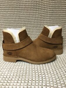 35458b0e51d Details about UGG MCKAY CHESTNUT SUEDE SHEARLING ANKLE BOOTS US 10.5