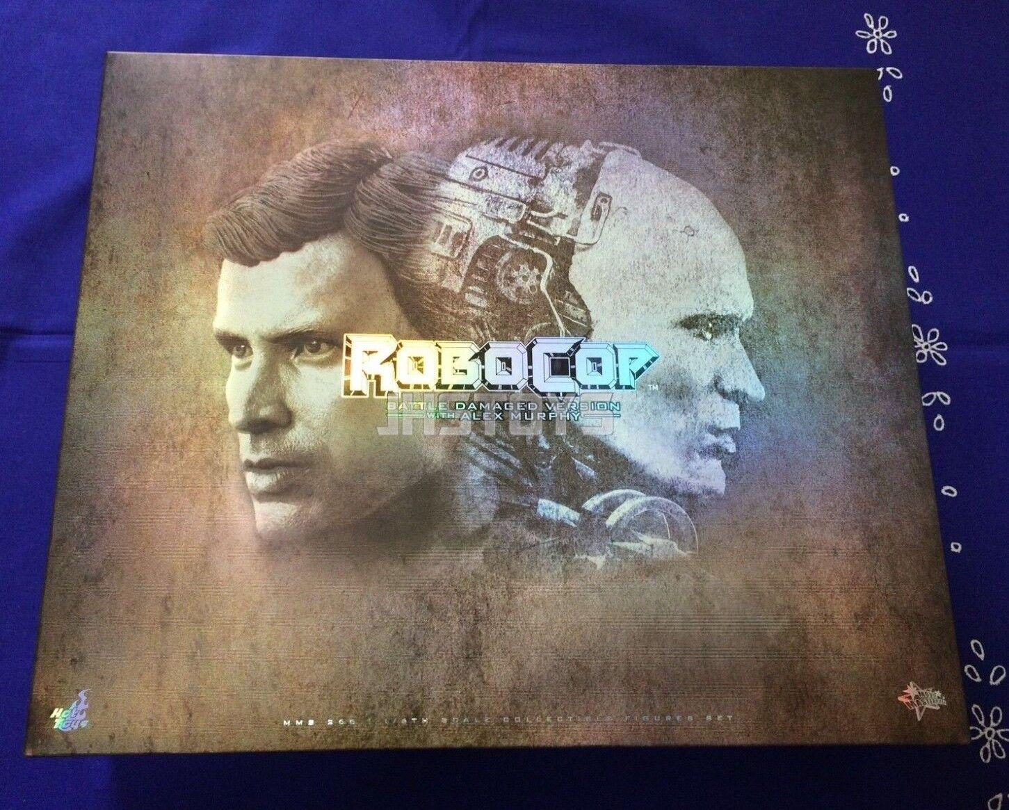 Hot Juguetes 1 6 Robocop Battle Damaged bd versión & Alex Murphy Set MMS266