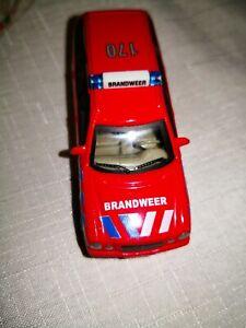MERCEDES-Benz-300-T-Brandweer-Hongwell-mattoncini-vetrina-modello-da-collezione