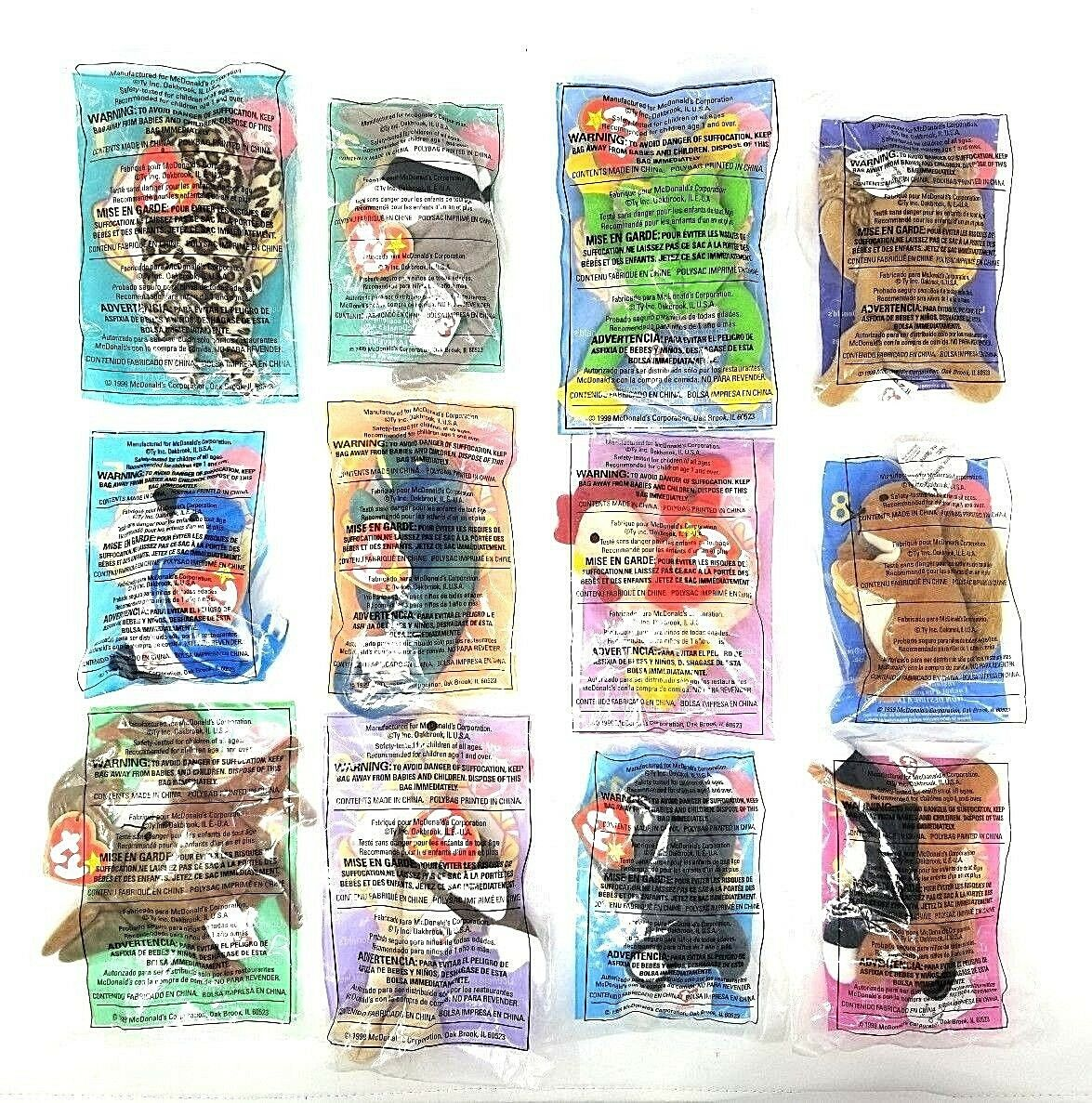 1999 MCDONALD'S TY TEENIE BEANIE BABIES BABIES BABIES COMPLETE SET OF 12 - FACTORY SEALED 2e29e0