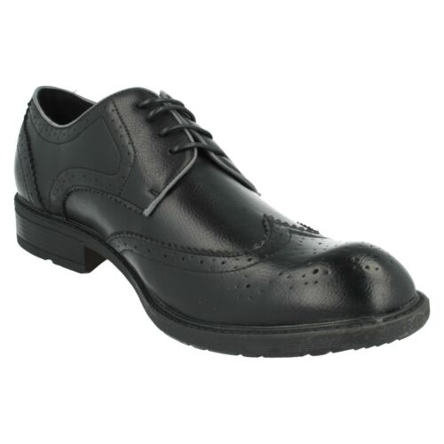 A2R125 MENS MAVERICK LACE UP ROUND TOE EVERYDAY FORMAL BROGUE WORK SHOES