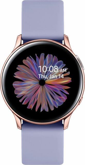 Samsung - Galaxy Watch Active2 40mm Aluminum - Violet