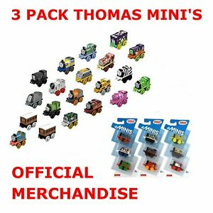 3-Pack-Thomas-and-Friends-Minis-Bundle-4cm-Train-Engines-Carriage-FISHER-PRICE