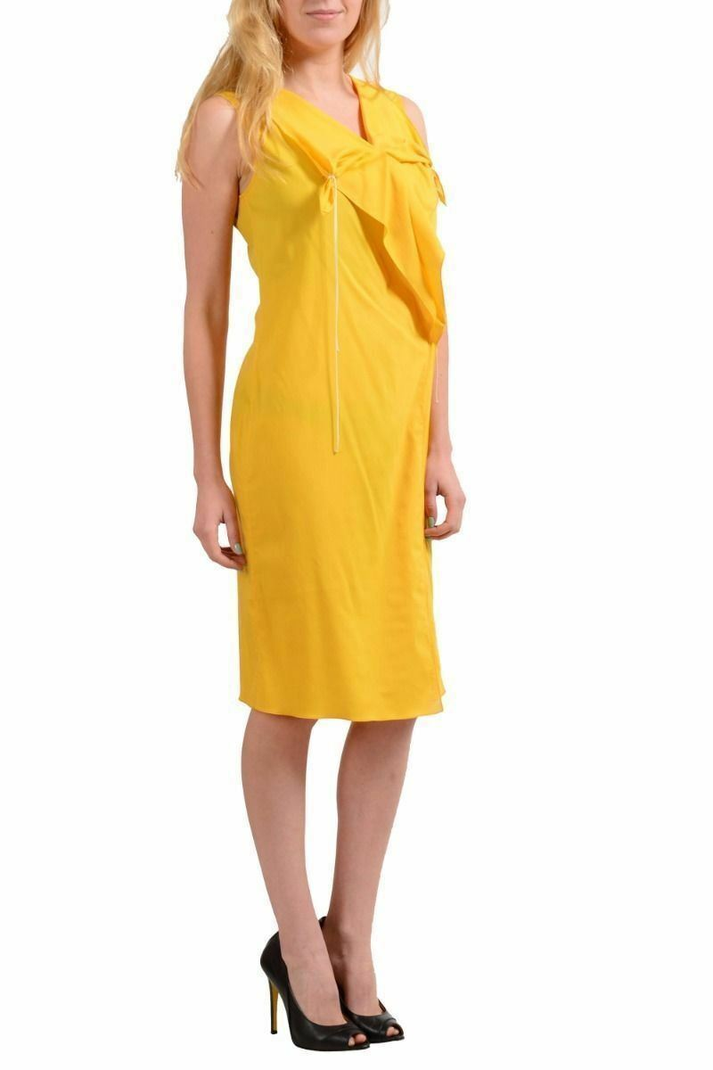 Maison Margiela 1Yellow Sleeveless Sleeveless Sleeveless Women's Sheath Dress US M IT 42 81cf62