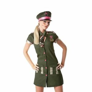 7cfeceef22e Details about *CLEARANCE* Sgt. Lust Outfit Army Women's Fancy Dress Costume  (Rubies) Hen Party