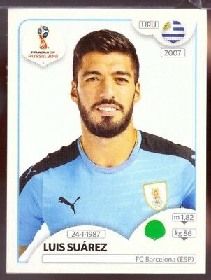 2018 Panini Fifa World Cup #97 Luis Suarez Pegatina-Uruguay