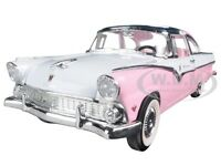 1955 Ford Crown Victoria Pink 1/18 Diecast Model Car By Road Signature 92138