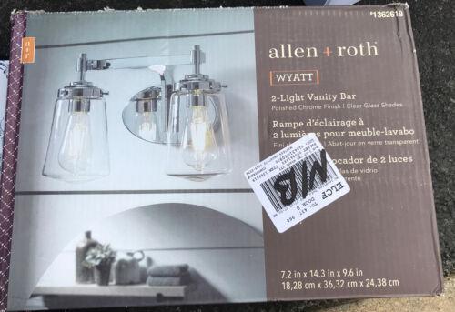 Roth Wyatt 2-Light 14-in Polished Chrome LED Vanity Bar-#LW-1102CHR-NEW Allen