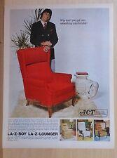 1972 magazine ad for La-Z-Boy chairs - football player Joe Namath & Lounger