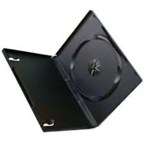 25-Single-Standard-Black-DVD-Case-14mm-Spine-New-Empty-Regular-Cover