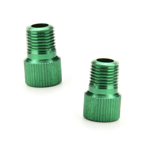 2 PC Green Presta Schrader Cycle Bike Bicycle Tyre Valve Pump Adapter Converters