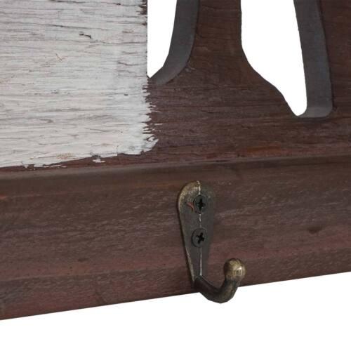 Landhaus Holz Metall Garderobenpaneel Wandgarderobe HWC-A91