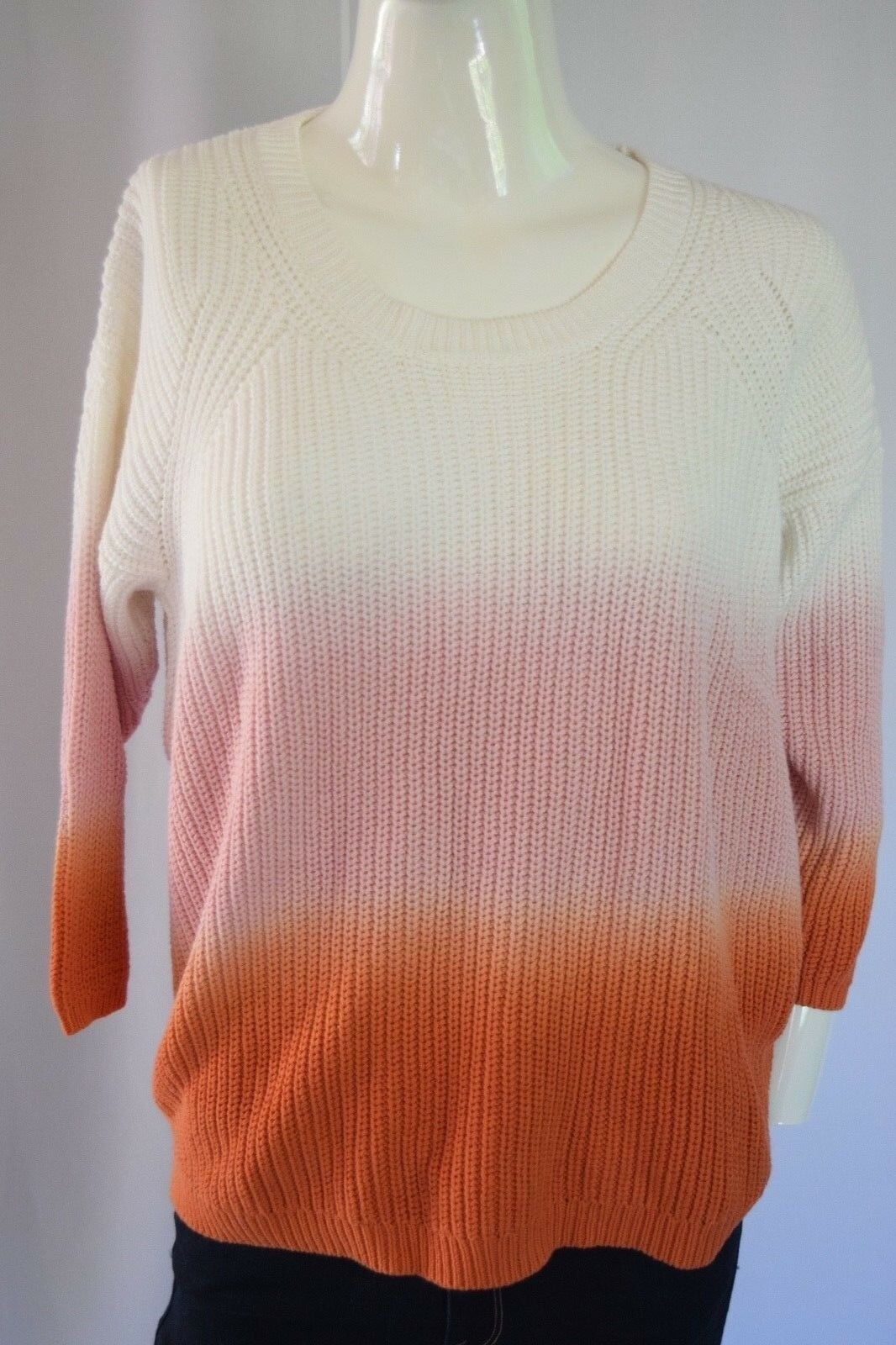 DIESEL  CHANDRA KNITWEAR SWEATER WOMEN SZ S in Multicolor white pink orange