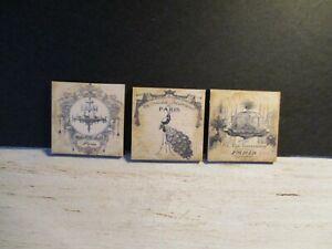 3 Maison De Poupées Miniature Vintage Mercerie Magasins Photos Aa-afficher Le Titre D'origine