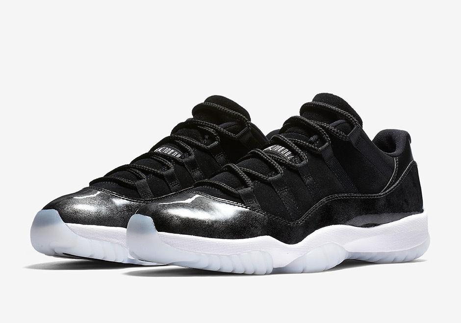 Nike Retro Air Jordan Retro Nike 11 bajo barones negro blanco plata 528895-010 cómodo barato y hermoso moda 04de23